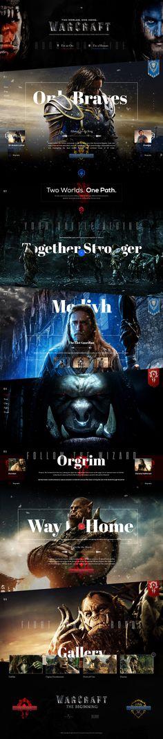 Warcraft Movie. #webdesign #ui #interface #warcraft