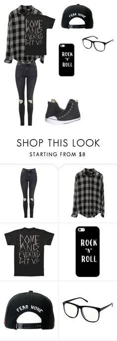 """Untitled #42"" by darksoul7 ❤ liked on Polyvore featuring Topshop, Casetify, Trukfit, H&M and Converse"