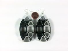 Black Paper Quilled Statement Earrings by SweetheartsandCrafts Etsy