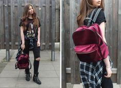 Fashion Love: METALLICA SHIRT, VELVET BACKPACK & BIKER BOOTS