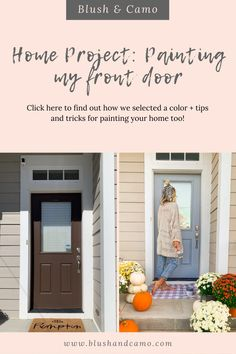Today I'm talking about painting my front door blue, which is my FIRST home project ever! Plus, I'm also sharing tips and tricks for if you would also like to paint your front door, or area in your home too! #homeproject #diy #homediy #homeprojects #homeprojectsonabudget #homeprojectsdiy