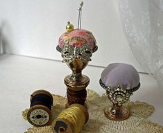 Vintage  Silver Plate Egg Cup Pincushion  by Cottonridgevintage,