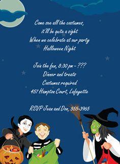 "Treat Seekers Halloween Party Invitation, 4-7/8"" x 6-3/4""."