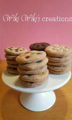 Chocolate Morsels, Chocolate Chip Cookies, Felt Cake, Felt Cupcakes, Comida Diy, Felt Food Patterns, Felt Play Food, Pretend Food, Crochet Food