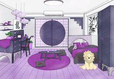Dorm Room Layouts, Dorm Rooms, Casa Anime, Dorm Design, Anime Girl Dress, Simple House Design, Doodle Art Journals, Room Design Bedroom, Building Art