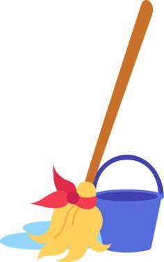 Mop And Bucket Clip Art Free Clip Art Cleaning Business Cards