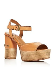 92ec734cb3c65 See by Chloé Women s Leather High-Heel Platform Sandals Shoes -  Bloomingdale s