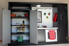 play kitchen made from entertainment center - Google Search