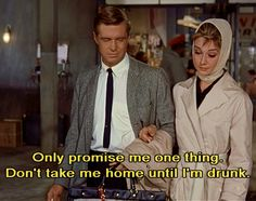 Breakfast at Tiffany's- Audrey Hepburn & George Peppard Dont Take Me Home, Post Break Up, George Peppard, Cultural Events, Breakfast At Tiffanys, Music Film, About Time Movie, Pop Punk, Old Movies