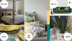 Trend Bible's Spring Summer 2016 Tropical Oasis trend spotted in store Summer 2016 Trends, Spring Summer 2016, Home Trends, Oasis, Design Trends, Tropical, Colours, Bed, Interior