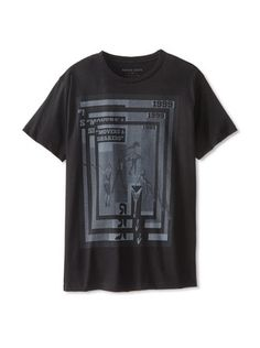 54% OFF Rogue State Men's If I Fell Rock Crew Neck T-Shirt (Black)