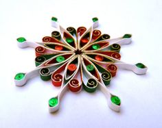 Christmas decoration, Eco-friendly, quilled, paper quilling - by: VBPureDesigns-Etsy
