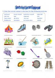 sports equipment vocabulary maitri learning 1 logan sports english fun teaching vocabulary. Black Bedroom Furniture Sets. Home Design Ideas