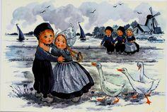 Delft Blue Children Postcard 8   Flickr - Photo Sharing!