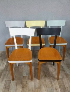 Chaises de cuisine relookées joliment Kitchen chair