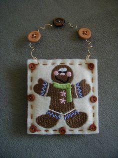 Felt Christmas Ornament Machine Embroidery Merry