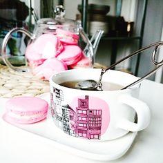 Tea Accessories, Marimekko, Macaroons, Afternoon Tea, Tea Time, Dinnerware, Tea Party, Tea Cups, Brunch