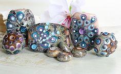 Firebugbeads Lampwork Beads - Silver Reflections. $105.00, via Etsy.