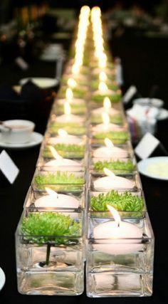 Schlichte und schöne Tischdeko für eine Party. Noch mehr tolle Ideen gibt es auf www.Spaaz.de