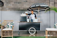Coffee cart includes specialty coffee, professional mobile barista hire along with coffee machine hire and all equipment. Our mobile coffee cart hire is available for corporate and private events in Brisbane and Adelaide Mobile Coffee Cart, Mobile Coffee Shop, Coffee Trailer, Bar Hire, Coffee Van, Hello Sunday, Party Co, Pop Up Bar, Coffee Business