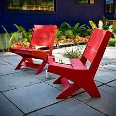 Contemporary armchair / with footrest / polyethylene / garden LOTUS Loll Designs