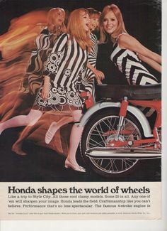 1967 Honda Motorcycles Advertisement 5 Models 50 90 by fromjanet