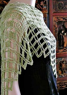 Aero Tunisian Filet Lace Wrap by Vashti Braha - crochet pattern - $5.99