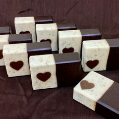 After all the business of the holidays, I wanted to take a simple approach to my soaps and yet still do a bit for Valentine's Day. So I went with some embed soaps, using four Heart tube molds and o… Bubble Recipe, Soap Cake, Coffee Soap, Soap Making Supplies, Soap Packaging, Packaging Ideas, Homemade Soap Recipes, Exfoliating Soap, Glycerin Soap