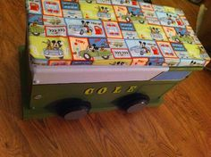 Toy Box Truck with cushion top