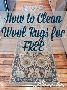 Do your rugs need a good cleaning? Come check out how we clean ours for free with just one ingredient!!!