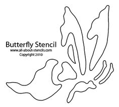 Free Printable Alphabet Stencils | Butterfly Stencil from All-About-Stencils.com