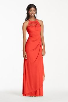 Ultra-feminine and unique this bridesmaid dress has unparalleled details that create a figure flattering silhouette!  Sleeveless illusion neckline with back keyhole is eye catching and chic.  Long softmeshbodicehas cascading side ruffles and back ruching for a flawless finish.  Fully lined. Back zip. Imported polyester. Dry clean only.  Also available in Extra Length as Style 4XLF15662.  To protect your dress, try our Non Woven Garment Bag.