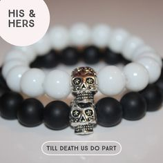 A personal favourite from my Etsy shop https://www.etsy.com/uk/listing/524688095/matching-skull-bracelets