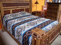 Southwestern Bedding | King Bedspread |Queen Bedspread | Western Bedspread in Tan, Brown, and Turquoise