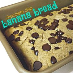 Ripped Recipes - Chocolate Chip Banana Bread - Delicious and Nutritious!