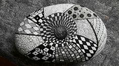 Zentangle zwart wit 3D