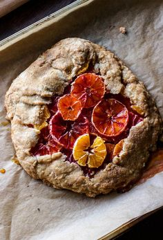 Gluten-free and refined sugar-free winter citrus galette | http://saltedplains.com