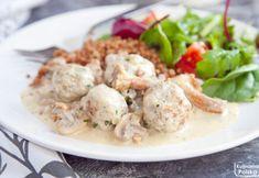Pyszne klopsiki z białej kiełbasy. Wychodzą nawet lepiej niż z mielonego. PRZEPIS Potato Salad, Shrimp, Potatoes, Meat, Chicken, Ethnic Recipes, Food, Potato, Meals