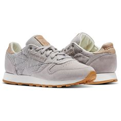 sports shoes d643b 6649d Reebok - Classic Leather EBK Silhuet, Beige, Jeans, Sko Sneakers, Telte,
