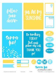 Summer Fun Journaling Cards – Free Printable Download