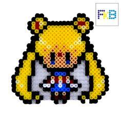 Handmade Sailor Moon brooch or magnet hama beads by FrikiBeads