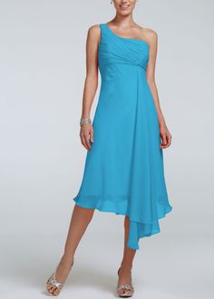 David's Bridal Bridesmaid Dress - Malibu Color - My Daughter-In ...