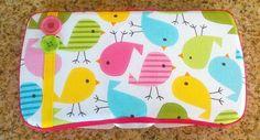 Bird print baby wipe case. $9.00