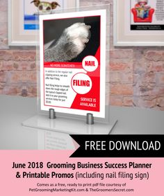 Printable dog grooming client record forms and pet release forms free download june 2018 groomers marketing planner printable nail filing sign expires fandeluxe Choice Image