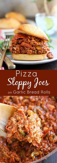Pizza Sloppy Joes - Sloppy Joes filled with your favorite pizza toppings (think…