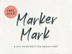 Marker Mark is a SVG font made by using a marker and a tone of paper. Marker mark comes in OTF-SVG format but also in the OTF, TTF and WOFF formats. Hand Lettering Styles, Hand Lettering Fonts, Handwritten Fonts, Typography Fonts, Calligraphy Fonts, Free Svg Fonts, Free Fonts Download, Font Free, Alphabet