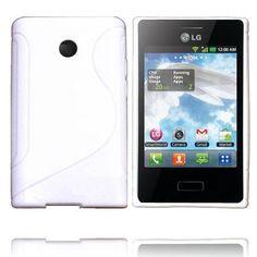 Solid S-Line (Hvit) LG Optimus L3 E400 Deksel