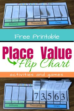 Is your child struggling with the concept of place value? This printable place value chart and the accompanying activities and games will build understanding and number sense! Place Value Games, Place Value Chart, Place Value Activities, Help Teaching, Teaching Math, Teaching Babies, Baby Learning, Teaching Activities, Learning Games