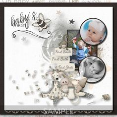 Digital Scrapbooking Kits   Babys First Year-(MemMos)   Babies, Celebrations, Family, Memories   MyMemories Neutral Colour Palette, Family Memories, Paint Shop, Photoshop Elements, First Year, Paper Background, Beautiful Babies, Baby Photos