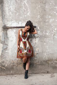 www.cewax.fr in love with this ethnic look - African dress Addis Abeba